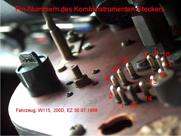 PIN-Belegung des Kombiinstruments – /8-KnowHow